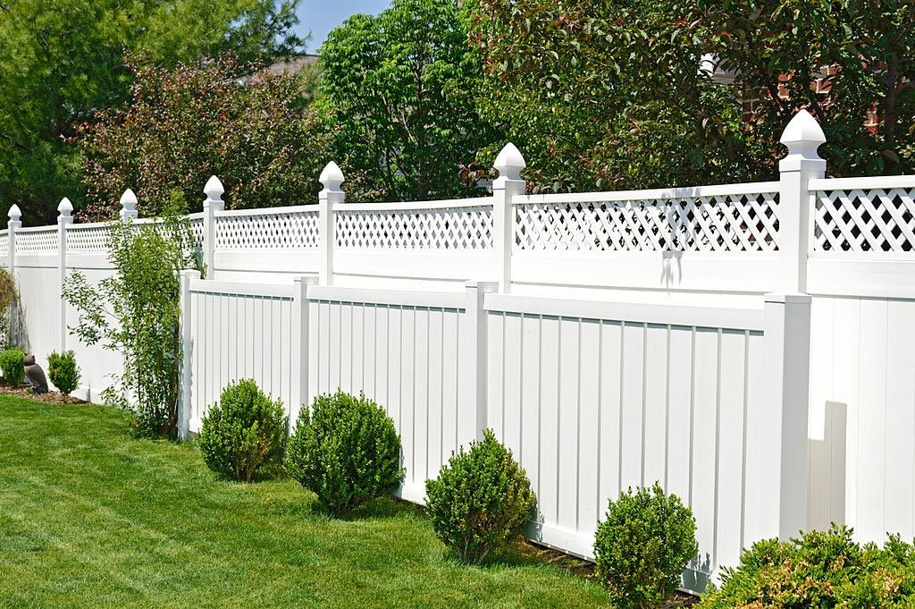white fence for privacy