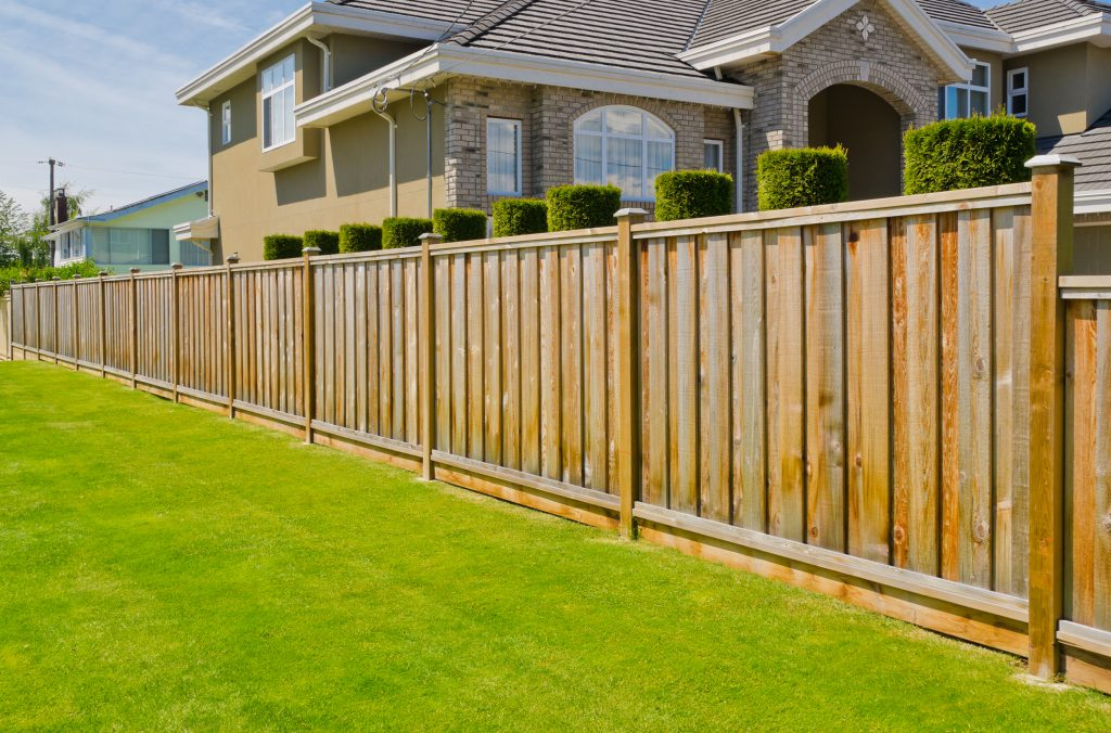 wood residential fence