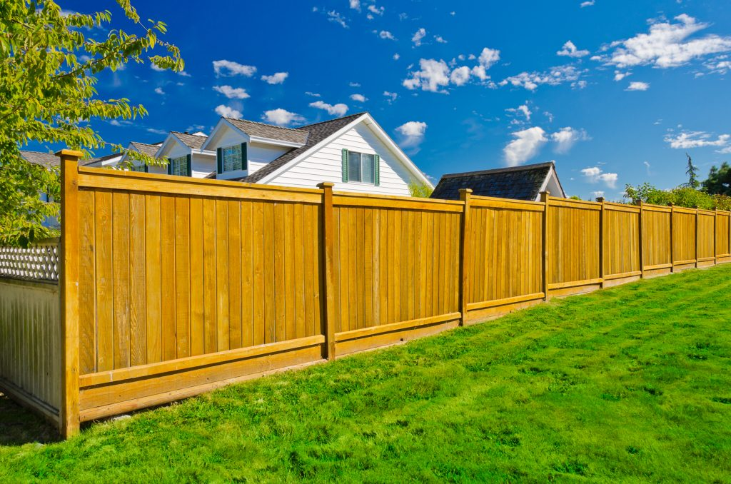 private residential wood fence